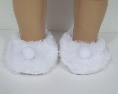 """Debs PINK Faux Fur Fuzzy Doll Slippers House-Shoes For 18/"""" American Girl"""