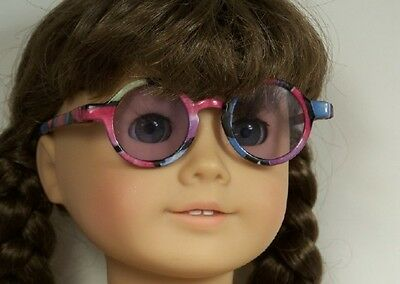 """Debs GOLD Wire Frame Eye Glasses Doll Clothes Accessory For 18/"""" American Girl"""