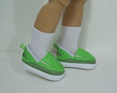 """GREEN Saddle Oxford SM Doll Shoes For Sonja Hartmann 18/"""" Kidz n Cats Debs"""