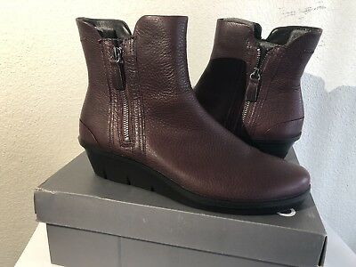 3c677db5529 ECCO WOMEN S SKYLER Wedge Ankle Boots Bordeaux Size 41