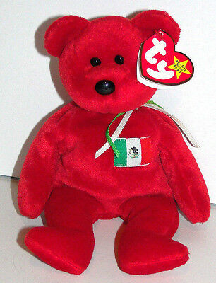 Ty Beanie Baby Red OSITO the Mexican Bear (USA Exclusive) ~ with TAGS 1999
