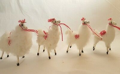 Hand Made Llama Figures Real Fur