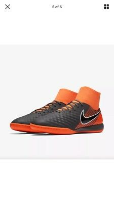 7b2e2f77b Nike ObraX Magista 2 Academy DF IC Dark Grey Black Orange AH7309 080 Mens  Sz 7.5