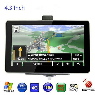 Built-In Europe Map MP3 Player WinCE 6.0 Car GPS Navigator MP4 Player