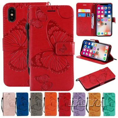 Fr iPhone Wallet Flip folio cover Card holder PU leather relief Phone Case strap