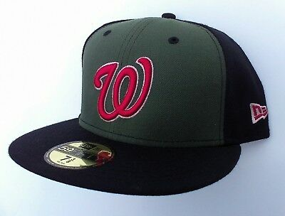 47f8e3f3 New Era WASHINGTON NATIONALS 59Fifty Fitted WOOL MLB Baseball Hat NWT 7 1/4