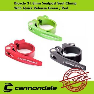 Cannondale Seatpost Seat Clamp With Quick Release - 31.8mm (Black/Green/Red)