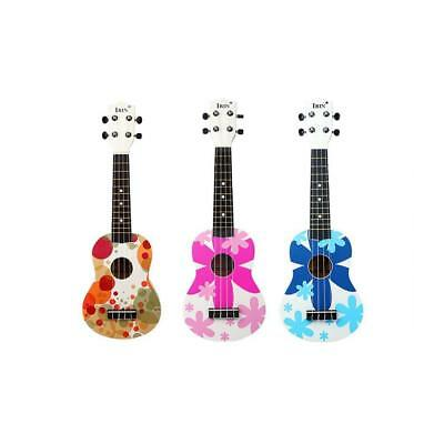21'' Wood Soprano Ukulele Small Guitar for Kids Adults Practice Musical Gift