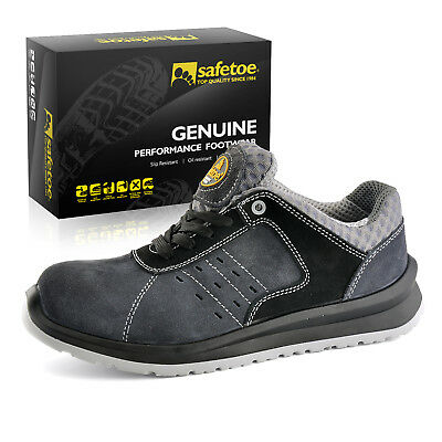 Safety Shoes Mens Work Boots Metal-free Light Weight Composite Steel Toe Gray