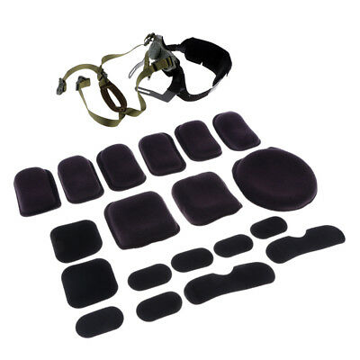 Tactical MICH ACH Helmet Retention System & Combat Helmet Protective Pad Set