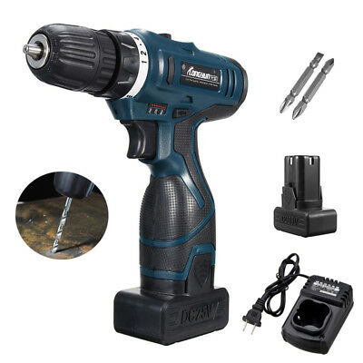 24V Electric Cordless Drill Driver Kit Lithium Ion 650R-1350R/MIN 2 Speed Torque
