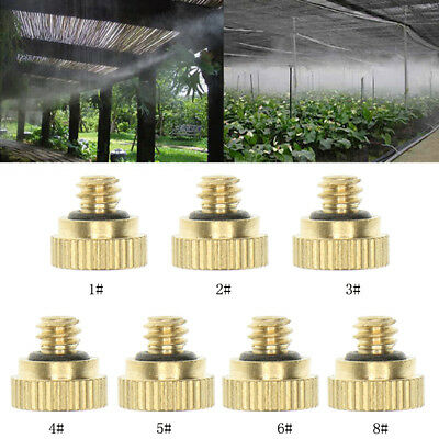 Brass Misting Nozzles for Outdoor Cooling Water Mist Fog Spray System Kit
