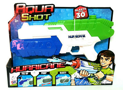 Kids Aqua Shot Hurricane Water Plastic Gun Fill Up Pump And Blast Toy Gift