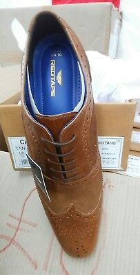 Size 9 Mens Brown/Tan Brogues Leather And Suede Smart New Boxed £16.99 Free p&p