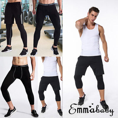 Quick Dry Men's Leggings Fitness Pants Running Compression Pants Sports Trousers