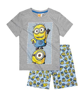 Official Licensed DESPICABLE ME  Minions Short sleeve Pyjamas PJs for Boys Girls
