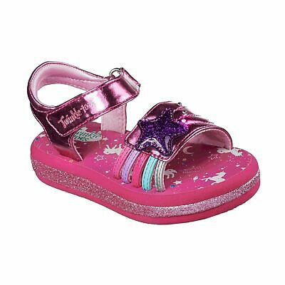 Skechers Twinkle Toes Sunnies Childrens Girls Athletic Sandals Ankle Strap