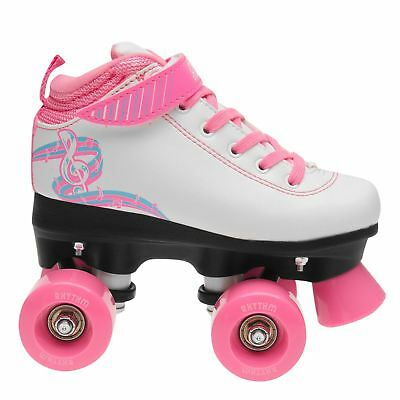 Rookie Rhythm Childrens Girls Roller Skates Quad Laces Fastened Padded Ankle