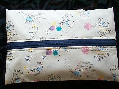 Handmade Baby Wet Wipes Travel Case Holder Peter Rabbit Waterproof Lining