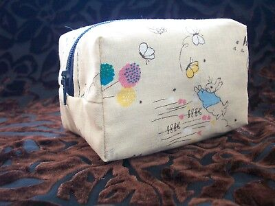 Dummy Soother Pacifier Case Holder Handmade Peter Rabbit Waterproof Lining
