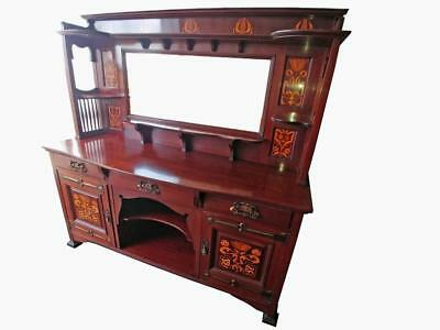Shapland & Petter Art Nouveau Sideboard Marquetry Inlays