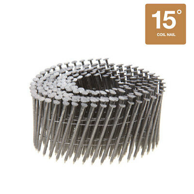Collated Nails 15 Degree Wire Coil 304 Stainless Steel Siding Nails - 3600CT Box