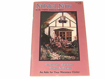 #2375 1987 July  Nutshell News Minatures Magazine For Creators & Collectors