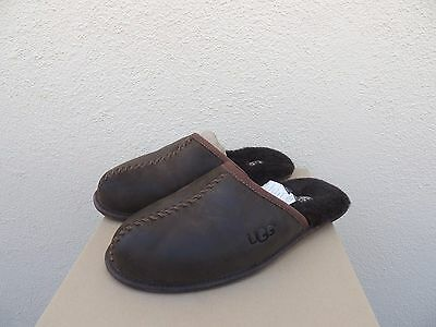 a28278e0b5c51 Ugg Scuff Deco Stout Brown Leather/ Sheepskin Slippers, Men Us 11/ Eur 44.5