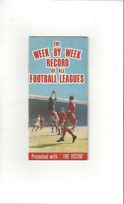 The Week by Week record presented with The Victor 1969