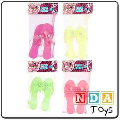 Neon Coloured Girls Dress Up Glam Shoes [1 Pair Supplied @ Random] *BRAND NEW*