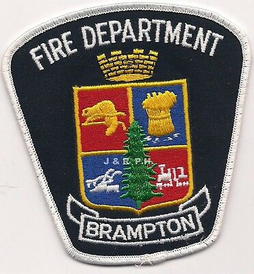 "Brampton  Fire Dept., Ontario, Canada (4"" x 4.25"" size)  fire patch"