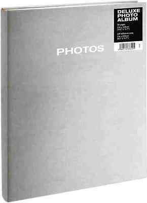 6Deluxe Self Adhesive 50 Page Photo Album In Silver (Suitable For A4 Photo's)