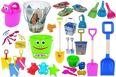 Summer Time Fun Beach Bucket Set Sand Pit Spade Sand Mill Mould Watering Can