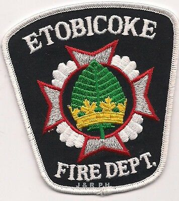 """*USED* Etobicoke Fire Dept., Ontario, Canada (3.75"""" x 4.25"""" size)  fire patch"""