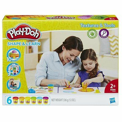 PlayDoh Shape & Learn Textures & Tools Creative Playset {Ages 2+} *BRAND NEW*