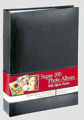 Super 200 Photo Album With Slip In Pockets Includes Memo Writing Cards