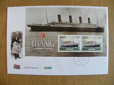 Ireland Eire - 1999 Maritime Heritage Titanic Minisheet First Day Cover FDC