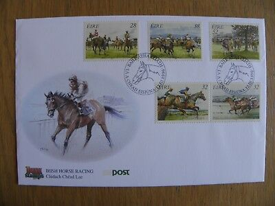 Ireland Eire - 1996 Irish Horse Racing First Day Cover FDC