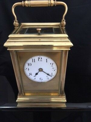 SUPERB Large Antique French Repeating Carriage Clock