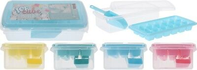 Ice Cube Tray with Lid Party Bar Ice Cube Mould with Ice Storage Box & Ice Scoop