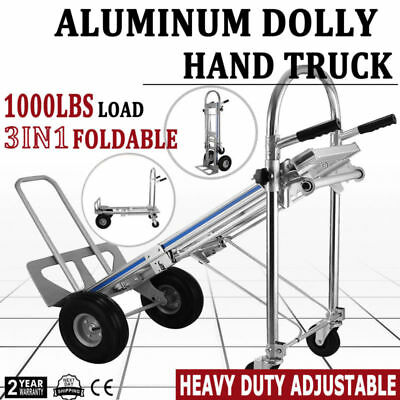 3 in 1 Convertible Fold Up Truck Folding Dolly Hand Push Cart Trolley