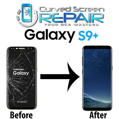 Samsung Galaxy S9+ Plus Cracked Screen Glass Repair Replacement Mail In Service