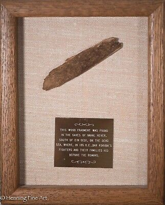 Rare Ancient Wood Fragment from Cave of Nahal Hever, Bar Kokbba's Troops, Roman!