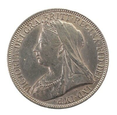 1894 Great Britain British UK Queen Victoria Florin 2 Shillings Silver Coin