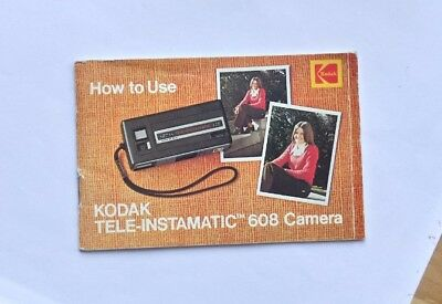 Vintage Kodak Tele-Instamatic 608 Camera Full Color instruction booklet 633248