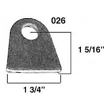 Qty 10 Flat Chassis Tab  with 1/4 hole Steel