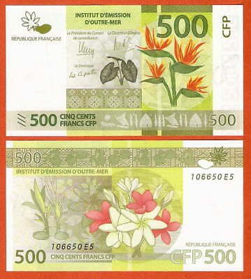 P5   French Pacific Territories  500 Francs  2014   UNC