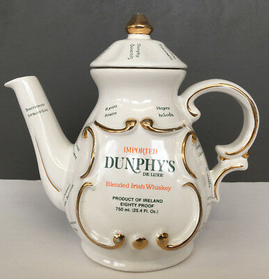 Vintage Dunphy's De Luxe Irish Whiskey Tea Pot Decanter