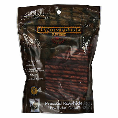 Savory Prime Twist Stick Chewable Natural Dog Chew Treats Brown 5 inch 100 pack