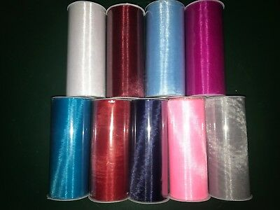 "Tulle Sheer Organza 6""x25yd Ribbon Roll, your color choice"